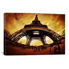 Eiffel Apocalypse by Sebastien Lory Photographic Print on Canvas in Brown / Yellow