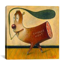 'Smoked Meat' by Daniel Peacock Painting Print on Wrapped Canvas