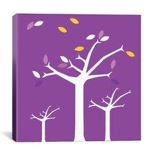 Autumn Trees Graphic Art on Canvas in Purple