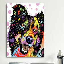 'Border Collie' by Dean Russo Graphic Art on Canvas