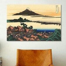'Dawn at Isawa in the Kai Province' by Katsushika Hokusai Painting Print on Canvas