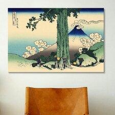 'Mishima Pass in Kai Province' by Katsushika Hokusai Painting Print on Canvas