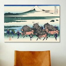 'Ono Shindon in the Surage Province' by Katsushika Hokusai Painting Print on Canvas