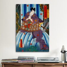 Japanese 'Hachiro Kazama' by Kunisada (Toyokuni) Graphic Art on Canvas