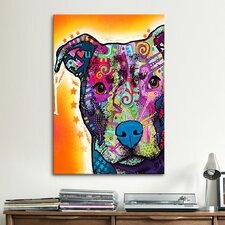 'Heart U Pit Bull' by Dean Russo Graphic Art on Canvas