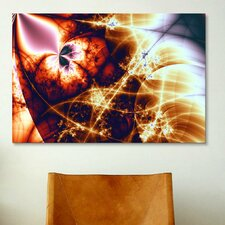 Digital Electric Charge Graphic Art on Canvas