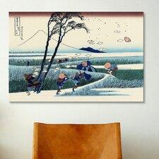 'Ejiri in the Suruga Province (Sunshu Ejiri)' by Katsushika Hokusai Painting Print on Canvas