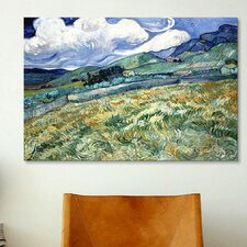 'Landscape at Saint Remy' by Vincent Van Gogh Painting Print on Canvas