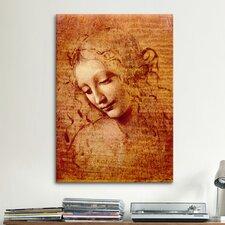 """Female Head"" by Leonardo da Vinci Painting Print on Canvas"