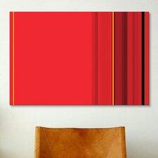 Ferrari Striped Graphic Art on Canvas