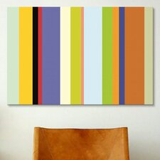 Striped Art For the Love of Color Graphic Art on Canvas