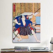 Japanese 'Actor Ichikawa' by Kunisada (Toyokuni) Painting Print on Canvas