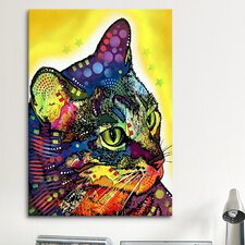 """Confident Cat"" by Dean Russo Graphic Art on Canvas"