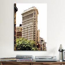 'Flatiron Building at 5th Ave and 34th' by Harold Silverman Photographic Print on Canvas