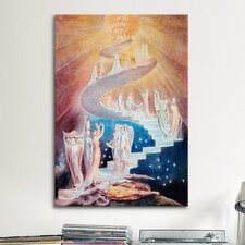 'Jacob's Ladder' by William Blake Painting Print on Canvas