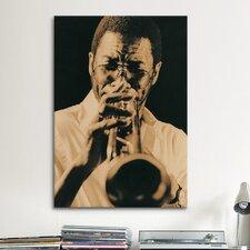 Jazz Trumpet Player Vintage Photographic Print on Canvas