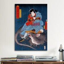 Japanese 'Ichikawa Ichizo' by Kunisada (Toyokuni) Graphic Art on Canvas