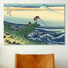 'Kajikazawa in Kai Province' by Katsushika Hokusai Painting Print on Canvas