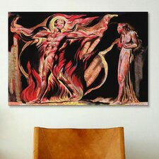 'Jerusalem the Emanation of The Giant Albion' by William Blake Painting Print on Canvas