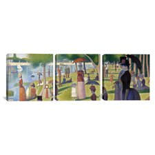 Georges Seurat Sunday Afternoon on the Island of La Grande Jatte 3 Piece on Wrapped Canvas Set