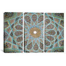 Islamic Art Photography Tomb of Hafez Mosaic 3 Piece on Wrapped Canvas
