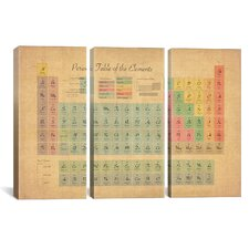Michael Thompsett Periodic Table of the Elements III 3 Piece on Wrapped Canvas Set