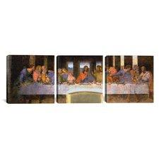 Leonardo da Vinci The Last Supper 3 Piece on Wrapped Canvas Set