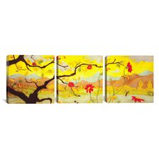 Paul Ranson Apple Tree with Red Fruit 3 Piece on Wrapped Canvas Set