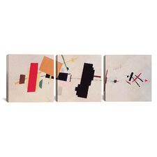 Kazimir Malevich Composition Suprematist 3 Piece on Wrapped Canvas Set