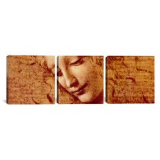 Leonardo da Vinci Female Head 3 Piece on Wrapped Canvas Set