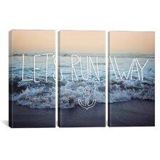 Leah Flores Let's Run Away (Arcadia Beach) 3 Piece on Wrapped Canvas Set