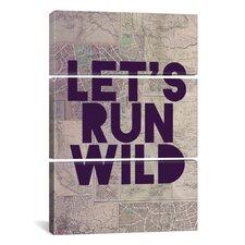 Leah Flores Let's Run Wild 3 Piece on Wrapped Canvas Set