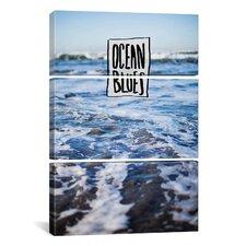 Leah Flores Ocean Blues 3 Piece on Wrapped Canvas Set