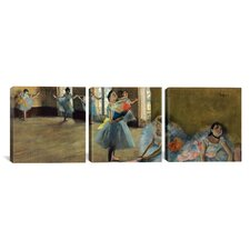Dancers by Edgar Degas 3 Piece Painting Print on Wrapped Canvas Set