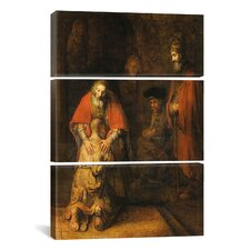 Rembrandt Return of the Prodigal Son 1668-1669 Van Rijn 3 Piece on Wrapped Canvas Set