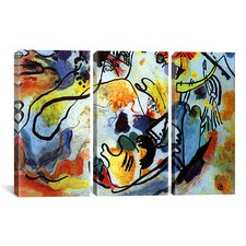 Wassily Kandinsky The Last Judgment 3 Piece on Wrapped Canvas Set