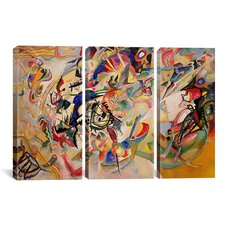 Wassily Kandinsky Composition VII 3 Piece on Wrapped Canvas Set