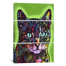 Dean Russo Watchful Cat 3 Piece Graphic Art on Wrapped Canvas Set