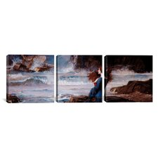 Miranda The Tempest by John William Waterhouse 3 Piece Painting Print on Wrapped Canvas Set