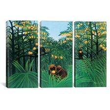 Henri Rousseau The Tropics 3 Piece on Wrapped Canvas Set