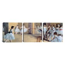 The Dance Foyer At The Opera by Edgar Degas 3 Piece Painting Print on Wrapped Canvas Set