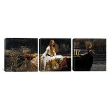 The Lady of Shalott by John William Waterhouse 3 Piece Painting Print on Wrapped Canvas Set