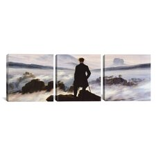 Caspar David Friedrich The Wanderer Above The Sea of Fog 3 Piece on Wrapped Canvas Set