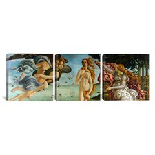 Botticelli Sandro The Birth of Venus 3 Piece on Wrapped Canvas Set