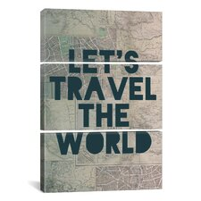 Leah Flores Travel the World 3 Piece on Wrapped Canvas Set