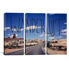 Leah Flores Wanderlust Road 3 Piece on Wrapped Canvas Set