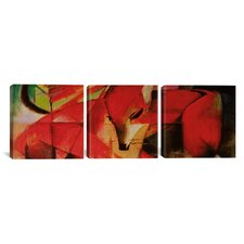 Franz Marc The Fox 3 Piece on Wrapped Canvas Set