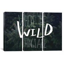 Where the Wild Things Are by Leah Flores 3 Piece on Wrapped Canvas Set