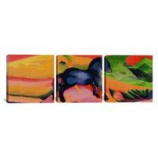 Franz Marc Little Blue Horse 3 Piece on Wrapped Canvas Set