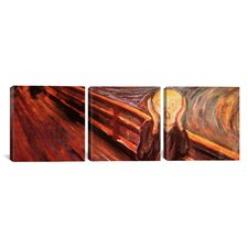 Edvard Munch The Scream 3 Piece on Wrapped Canvas Set